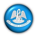 button flaggalouisiana det runda tillståndet USA royaltyfri illustrationer