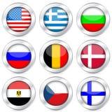 button flagganationalseten Arkivbilder