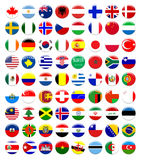 Button flags Royalty Free Stock Images