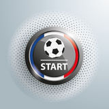 Button Football Start Halftone Royalty Free Stock Images