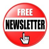 Button For Free Newsletter Stock Photography