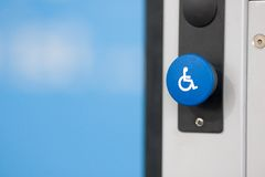 Button For Handicapped Persons Royalty Free Stock Photography
