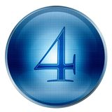 The button Four blue Royalty Free Stock Images