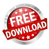 Button Free Download. Colored button with banner and text Free Download stock illustration