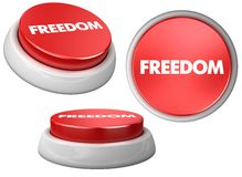 Button freedom Royalty Free Stock Photos
