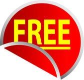 button fri red Royaltyfria Bilder