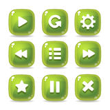 Button Games Icons Royalty Free Stock Image