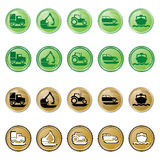 BUTTON GLOSSY INSTRUCTION Royalty Free Stock Images