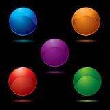 Button glow multi Stock Images