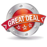Button great deal Royalty Free Stock Photography