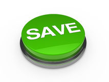 Button green chrome save Royalty Free Stock Photography