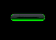 Button green neon Royalty Free Stock Image