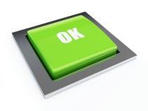 button green ok Стоковое Изображение RF