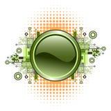 button grunge hög - techvektorn Royaltyfria Foton