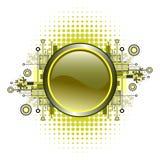 button grunge hög - techvektorn Arkivbild