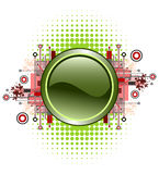 button grunge hög - techvektorn Fotografering för Bildbyråer