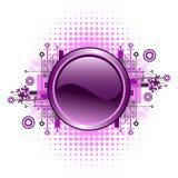 button grunge hög - techvektorn Royaltyfri Foto