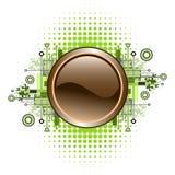 button grunge hög - techvektorn Royaltyfri Fotografi