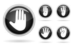 button handen royaltyfri illustrationer