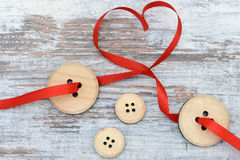 Button and heart Stock Image