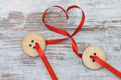 Button and heart Royalty Free Stock Photo