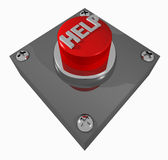 Button_HELP Imagem de Stock Royalty Free