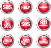 Button help Stock Photo