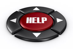Button help on white background. 3D image Stock Photo