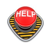 Button help Stock Image