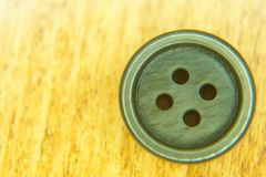 Button for fashion with 4 holes stock image