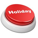 Button holiday. 3d image of button holiday. White background Vector Illustration