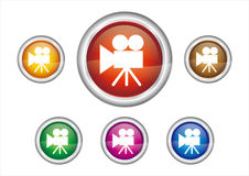 Button icon Royalty Free Stock Photography