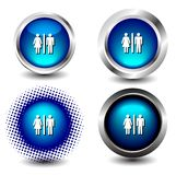 Button icon Royalty Free Stock Photos