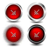 Button icon Stock Image