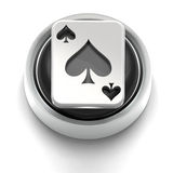 Button Icon: Ace Of Spades Royalty Free Stock Photo