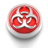 Button Icon: BioHazard. 3D rendered illustration of button icon with Bio Hazard symbol Royalty Free Stock Images