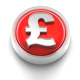 Button Icon: British Pound Royalty Free Stock Photos
