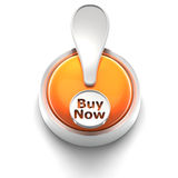Button Icon: Buy Now. 3D rendered illustration of button icon with Buy Now symbol Stock Images