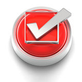 Button Icon: Checkmark Royalty Free Stock Image