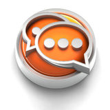 Button Icon: Communication. 3D rendered illustration of button icon with Communication symbol