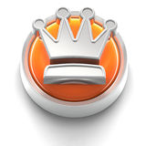Button Icon: Crown Royalty Free Stock Photos