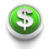 Button Icon: Dollar Royalty Free Stock Image