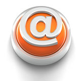 Button Icon: Electronic Address Stock Photo