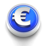 Button Icon: Euro Royalty Free Stock Photo
