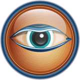 Button/icon eye Stock Images