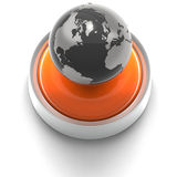 Button Icon: Global Royalty Free Stock Photos