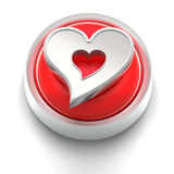 Button Icon: Heart Royalty Free Stock Photo