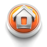 Button Icon: Home. 3D rendered illustration of button icon with home symbol Royalty Free Stock Image