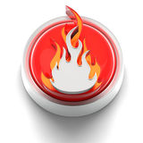 Button Icon: Hot Royalty Free Stock Photography