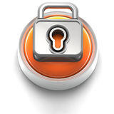 Button Icon: Lock Stock Photo